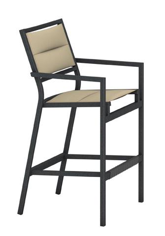 Tropitone Furniture Co., Inc. - Cabana Club Padded Sling Stationary Barstool - 591026PS