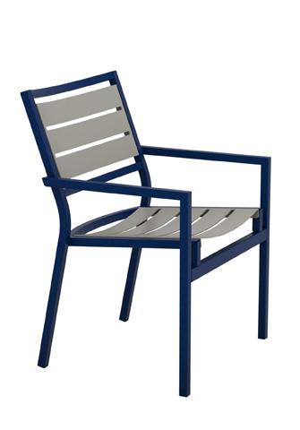 Tropitone Furniture Co., Inc. - Cabana Club Aluminum Slat Dining Chair - 591037MS