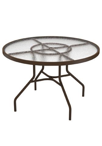 Tropitone Furniture Co., Inc. - Acrylic Round Dining Umbrella Table - 646NAU