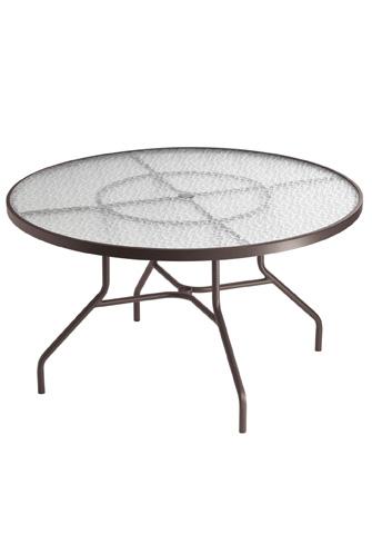 Tropitone Furniture Co., Inc. - Acrylic Round Dining Umbrella Table - 647NAU