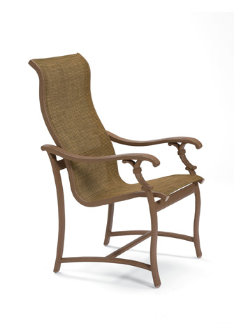 Tropitone Furniture Co., Inc. - Ravello Sling High Back Dining Chair - 650701
