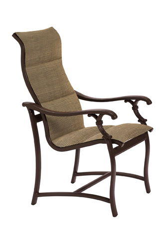 Tropitone Furniture Co., Inc. - Ravello Padded Sling High Back Dining Chair - 650701PS