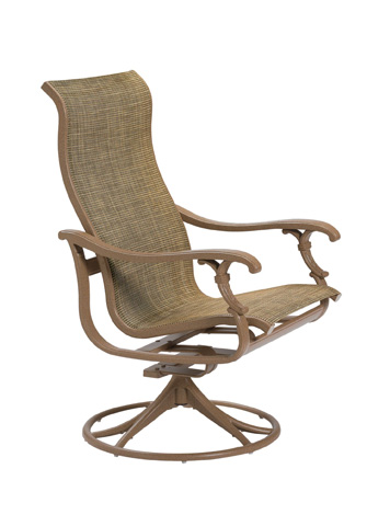 Tropitone Furniture Co., Inc. - Ravello Sling High Back Swivel Rocker - 650770