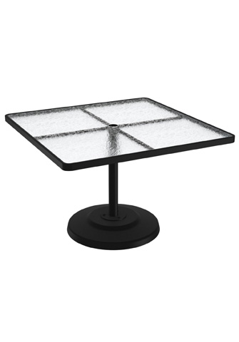 Tropitone Furniture Co., Inc. - Acrylic Square Pedestal Dining Umbrella Table - 701443AU