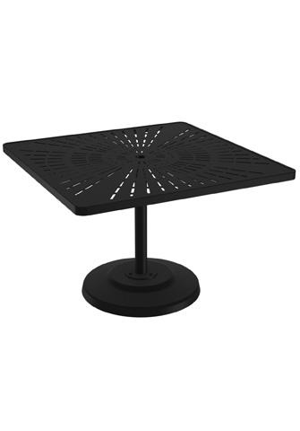 Tropitone Furniture Co., Inc. - La'Stratta Square Pedestal Dining Umbrella Table - 701443SLU