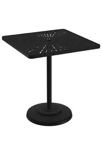 Tropitone Furniture Co., Inc. - La'Stratta Pedestal Bar Umbrella Table - 701476SLU-40