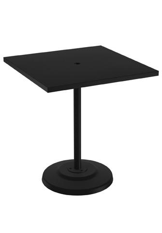 Tropitone Furniture Co., Inc. - Round Pedestal Bar Umbrella Table - 701476SNU-40