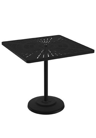 Tropitone Furniture Co., Inc. - La'Stratta Pedestal Bar Umbrella Table - 701491SLU