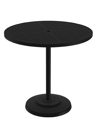 Tropitone Furniture Co., Inc. - Boulevard Pedestal Bar Umbrella Table - 701498SBU
