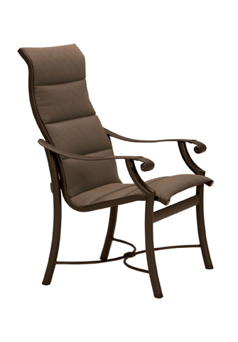 Tropitone Furniture Co., Inc. - Montreux Padded Sling Dining Chair with High Back - 710101PS