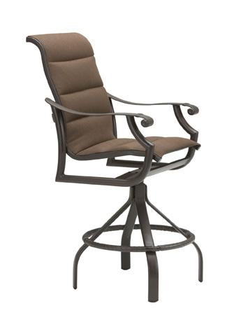 Tropitone Furniture Co., Inc. - Montreux Padded Sling Swivel Barstool - 710127PS-28