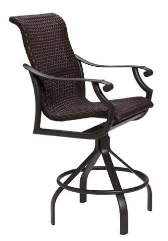 Tropitone Furniture Co., Inc. - Montreux Woven Swivel Barstool - 710127WS-28