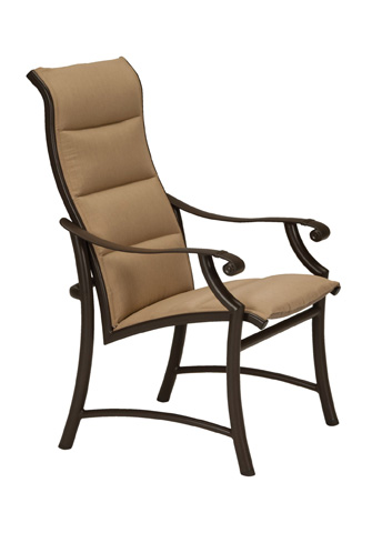 Tropitone Furniture Co., Inc. - Montreux II Padded Sling High Back Dining Chair - 711201PS