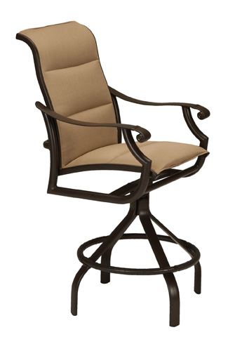 Tropitone Furniture Co., Inc. - Montreux II Padded Sling Swivel Barstool - 711227PS-28