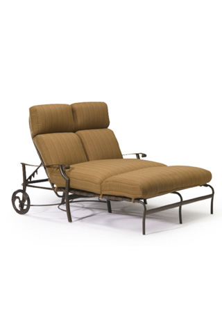Tropitone Furniture Co., Inc. - Montreux Cushion Double Chaise Lounge with wheels - 720275W
