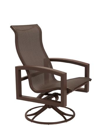 Tropitone Furniture Co., Inc. - Lakeside Sling Swivel Rocker with High Back - 740570