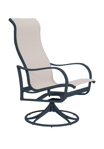 Tropitone Furniture Co., Inc. - Shoreline Sling High Back Swivel Rocker - 960270