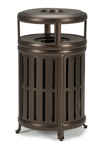 Tropitone Furniture Co., Inc. - Radiance Waste Receptacle with Hood and Ash Urn - 980889-HA