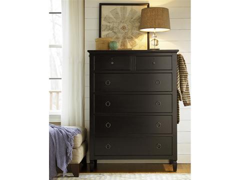 Universal Furniture - Multi-Storage Six Drawer Chest in Midnight - 988140