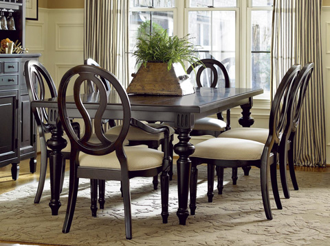 Universal Furniture - Pierced Oval Back Arm Chair in Midnight - 988637-RTA