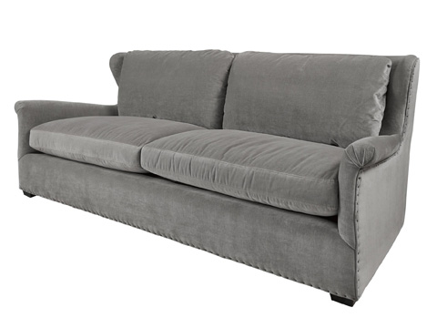 Image of Haven Sofa in Gray Cloud Velvet