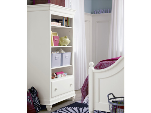 Image of Summer White Three Shelf Bookcase