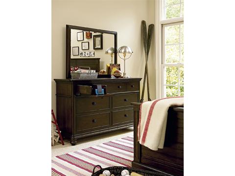 Universal - Smart Stuff - Paula Deen Guys Drawer Dresser with Mirror - 2391002/2391032