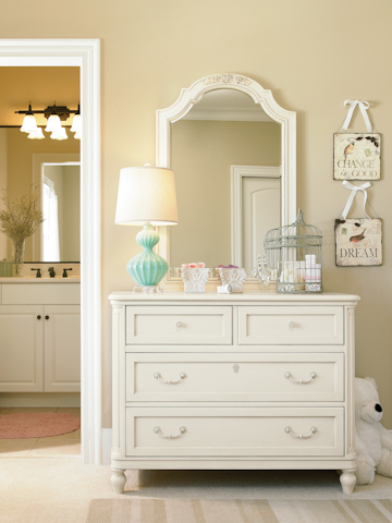 Universal - Smart Stuff - Gabriella Single Dresser with Vertical Mirror - 136A001/136A030
