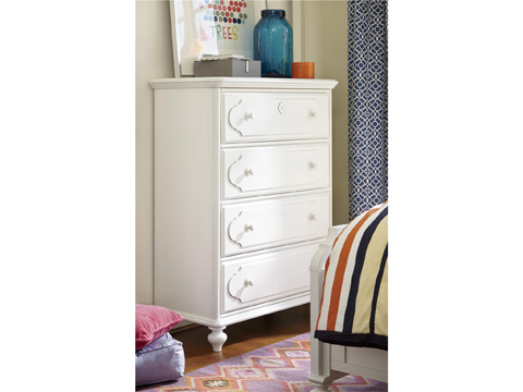 Universal - Smart Stuff - Black and White 4 Drawer Chest - 437A010