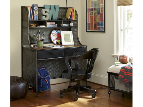 Universal - Smart Stuff - Black and White Metal Desk - 437B019