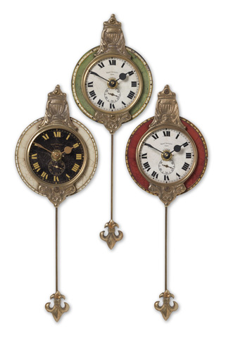 Uttermost Company - Monarch Wall Clock Set of 3 - 06046