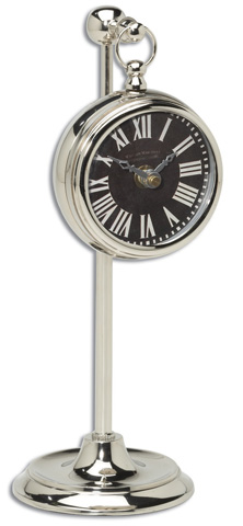 Uttermost Company - Pocket Watch Nickel Marchant Black - 06071
