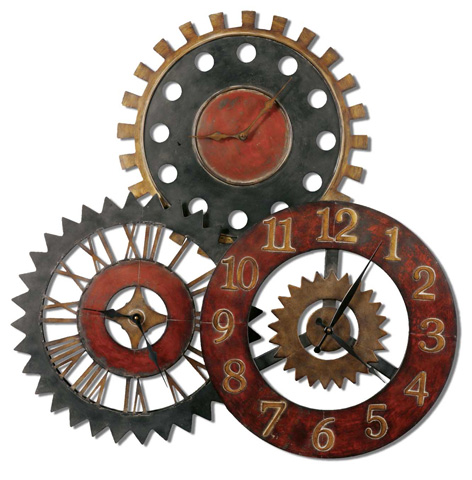 Uttermost Company - Rusty Movements Wall Clock - 06762