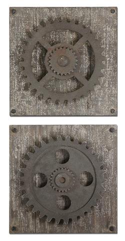 Uttermost Company - Rustic Gears Wall Art - 13828