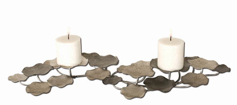 Uttermost Company - Lying Lotus Metal Candleholders - 17079