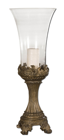 Uttermost Company - Rococo Golden Hurricane Candleholder - 19475