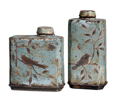 Uttermost Company - Freya Light Sky Blue Containers - 19547