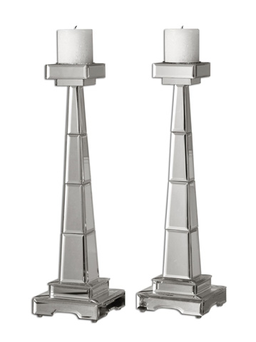 Uttermost Company - Alanna Mirrored Candleholders - 19597