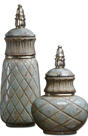 Uttermost Company - Deniz Sea Foam Ceramic Containers - 19689