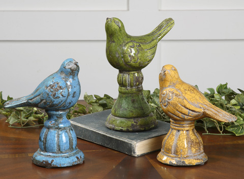 Uttermost Company - Bird Trio Ceramic Figurines - 19705