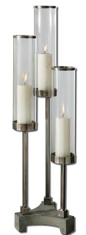 Uttermost Company - Risto Brushed Aluminum Candleholder - 19722