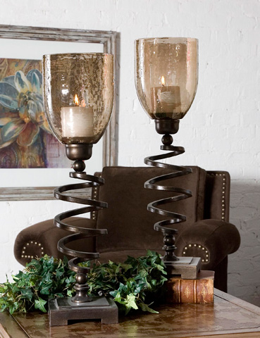 Uttermost Company - Spiral Twist Candleholders - 19733