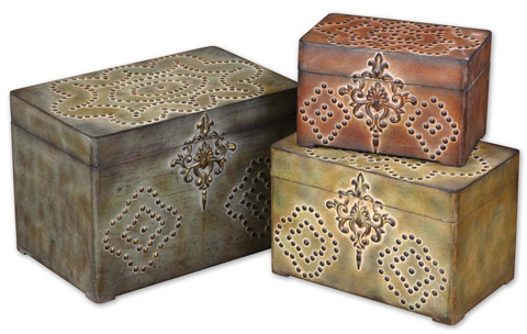 Uttermost Company - Hobnail Weathered Boxes - 20394