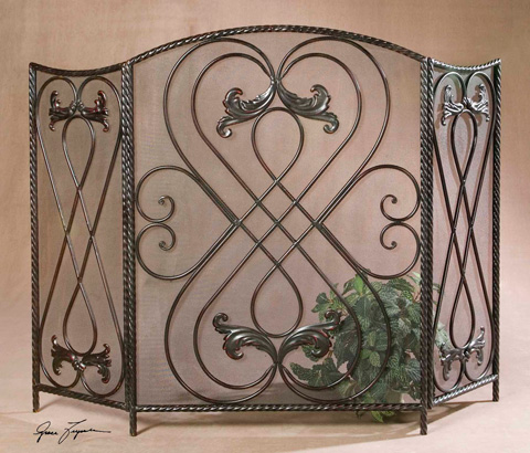 Uttermost Company - Effie Metal Fireplace Screen - 20960