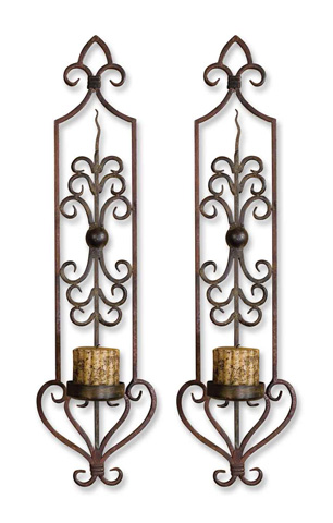 Uttermost Company - Privas Metal Wall Sconces - 20987
