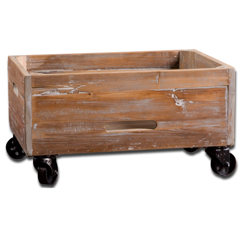 Uttermost Company - Stratford Reclaimed Wood Rolling Box - 24247
