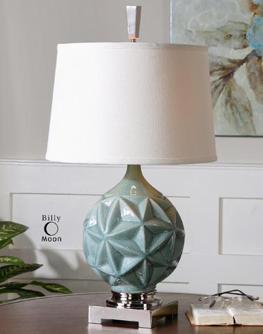 Uttermost Company - Chelan Sky Blue Lamp - 26346
