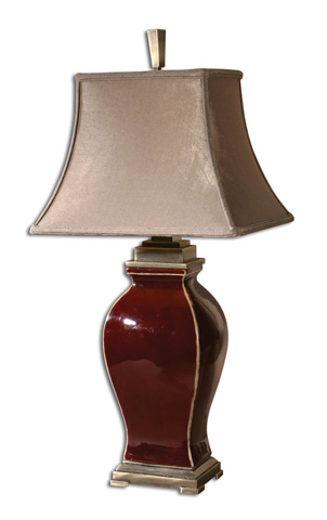 Uttermost Company - Rory Burgundy Table Lamp - 26684