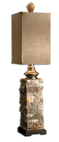 Uttermost Company - Andean Layered Stone Buffet Lamp - 29093-1