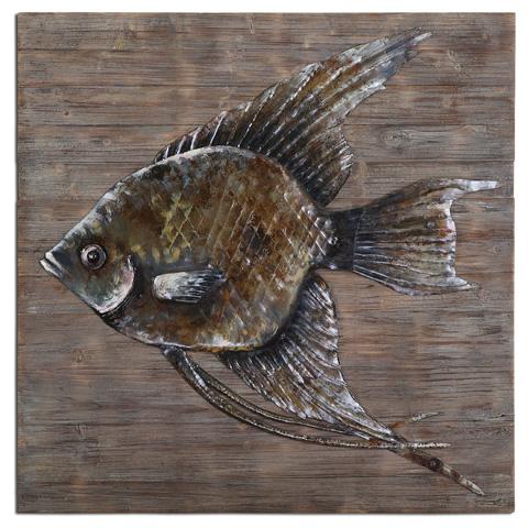 Uttermost Company - Iron Fish Wall Art - 04273